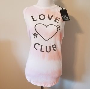 NWT Chaser Tie Dye Love Club Graphic Tank Top L